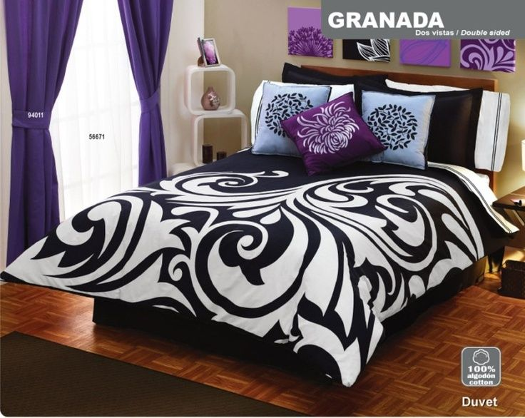 Black Purple And White Bedroom Ideas Part - 34: Purple Black And White Bedroom Ideas