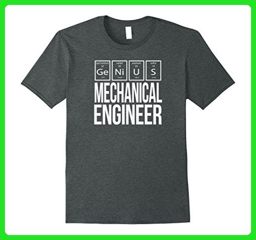 Mens The Funny Genius Mechanical Engineer T Shirt Large Dark Heather - Careers professions shirts (*Amazon Partner-Link)