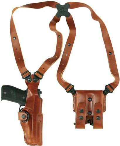 Galco Vertical Shoulder Holster System for Ruger SP101 2 1/4-Inch (Tan, Ambi)