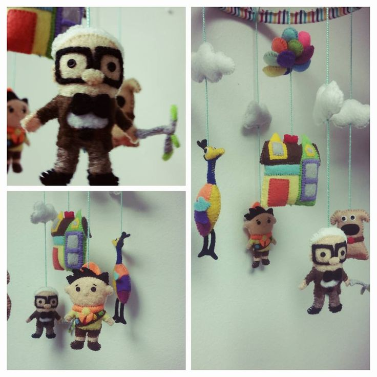 #Up baby mobile #Up felt