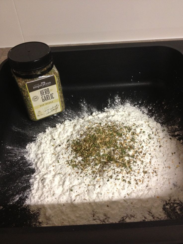 I use YIAH Herb and Garlic dip mix in my pizza bases