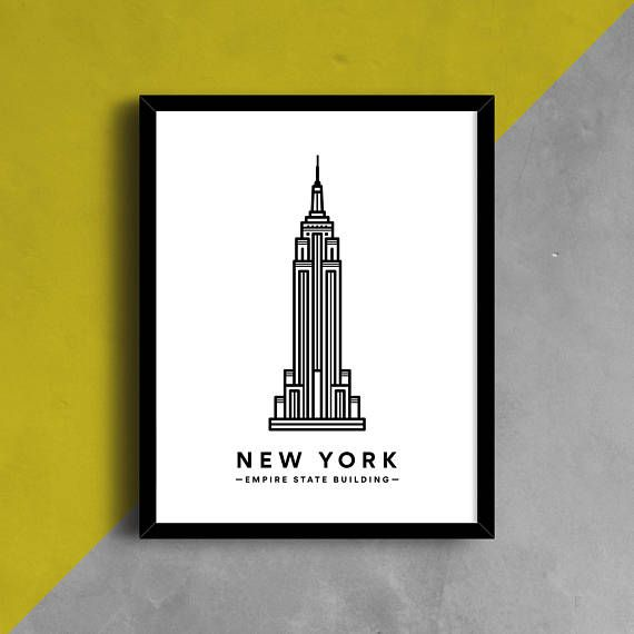 Empire State Building Print NYC Print NYC Poster New York