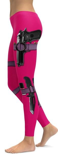 Guns and makeup hot pink leggings Loading that magazine is a pain! Excellent loader available for your handgun Get your Magazine speedloader today! http://www.amazon.com/shops/raeind