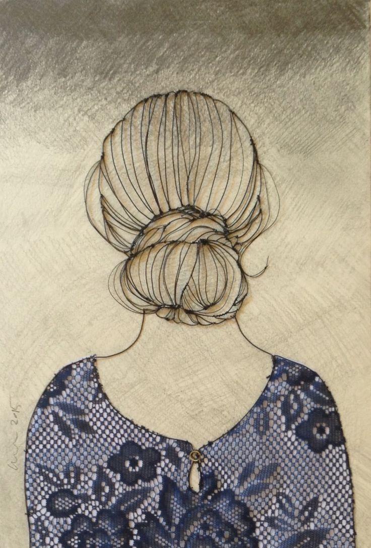 sculptural drawing by christina james nielsen: Presentation of sculptural drawings
