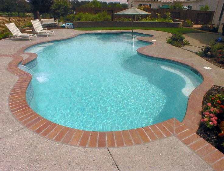Pool Tile With Brick Coping Google Search Pool Pool