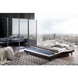Portofino Modern White Leatherette Adjustable Bed w/ Built-In Nightstands -  #furniture #bedroom #LAfurniture #LAfurnitureStore #Furnituredesign #HomeDecor #bed #bedroom #modernbed #contemporarybed