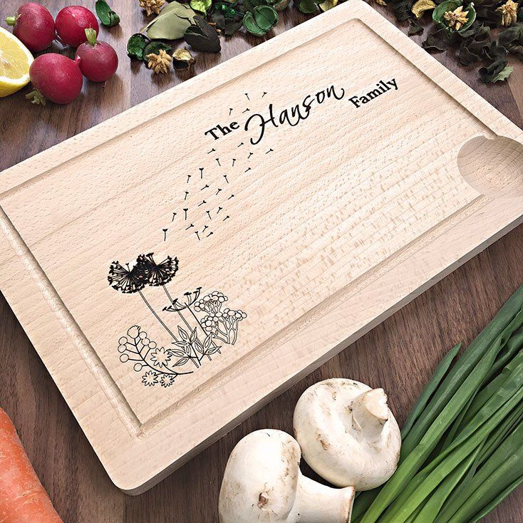 Fresh Personalized Wooden Cutting Board