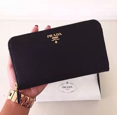 leather travel wallet #prada