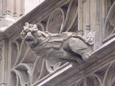 A crypt Gargoyle from the Abbey of St. Micheal, Farnbourgh, England