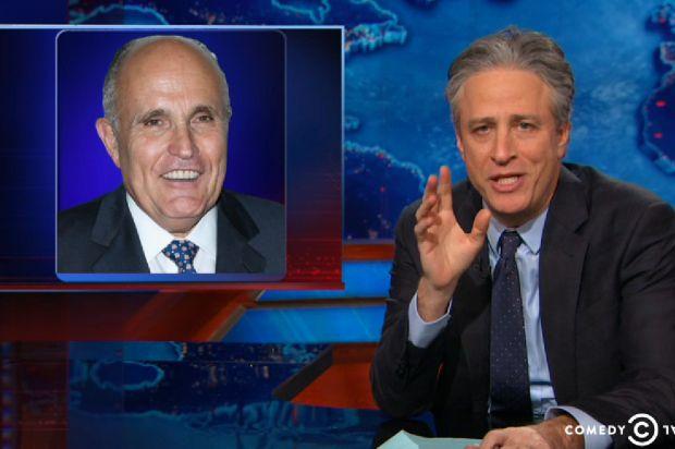 """You don't own 9/11"": Jon Stewart tears Rudy Giuliani apart"