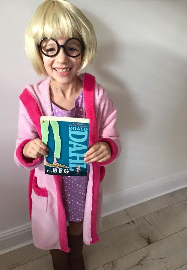 Isabelle from Hadfield in England chose Sophie from The BFG as she loves all Roald Dahl's stories. She was Mrs Twit last year!
