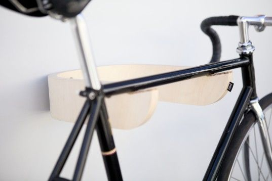 PAU is a minimalist bicycle wall rack made from birch plywood   Inhabitat - Sustainable Design Innovation, Eco Architecture, Green Building