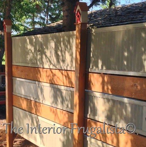 Diy Garden Screen From Repurposed Louvered Bi Fold Doors