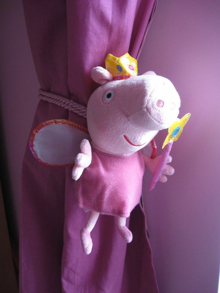 PEPPA PIG CHILDRENS BEDROOM CURTAIN TIE BACKS  pair. 1000  images about peppa pig girl room on Pinterest   Removable