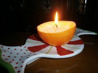 Lia B. Creations: Orange tea lights