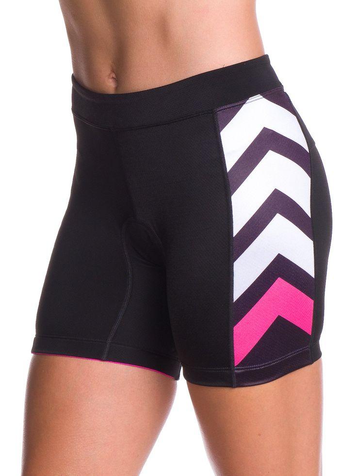 "Zele 5"" Women's Aero Triathlon Shorts - Pink and Black"