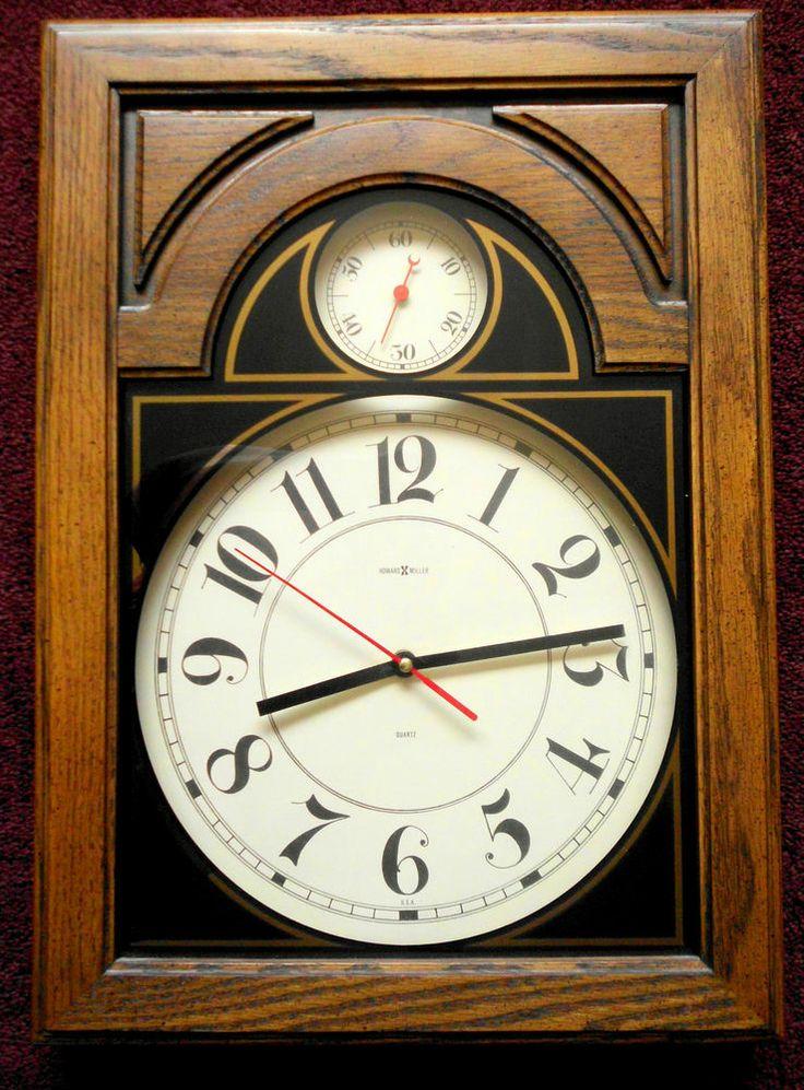 Howard Miller Wall Clock Classic Office Quartz Barometer Arabic Numerals 612-246