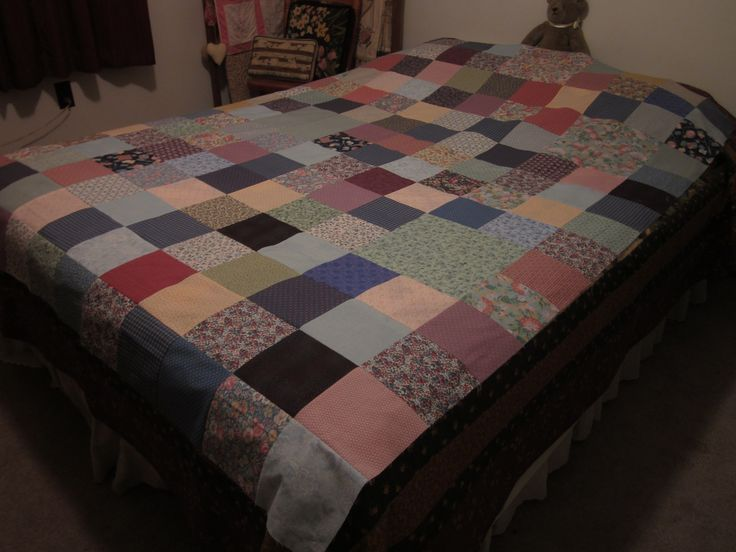 Scrap quilt top  to donate to refugees. You too can donate tops or quilts to the MENNONITE CENTRAL COMMITTEE . They do a tremendous job helping many in dire need around the globe. I went on a tour and it was amazing. All details on line.  They desperately need help supplying quilts. PLEASE PASS THIS PIN AROUND.