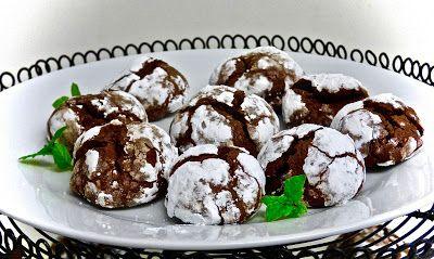 piekarz-kucharz-garkotłuk: Chocolate crinkles - czekoladowe ciasteczka