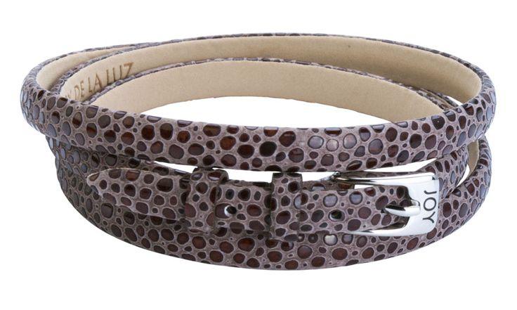 Joy de la Luz | Leather buckle bracelet stingray brown