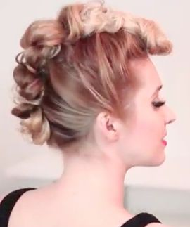A unique 3 in one faux hawk hairstyle Tutorial - Your jaws will drop as to how easy this one is! Another cool hairstyle for girls.