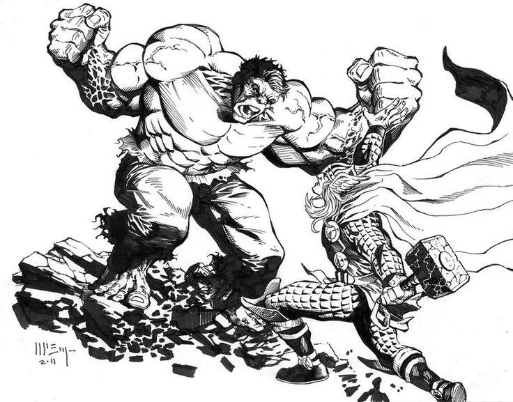 225 best Lineart: Hulk VS. ? images on Pinterest | Comics, Hulk and ...