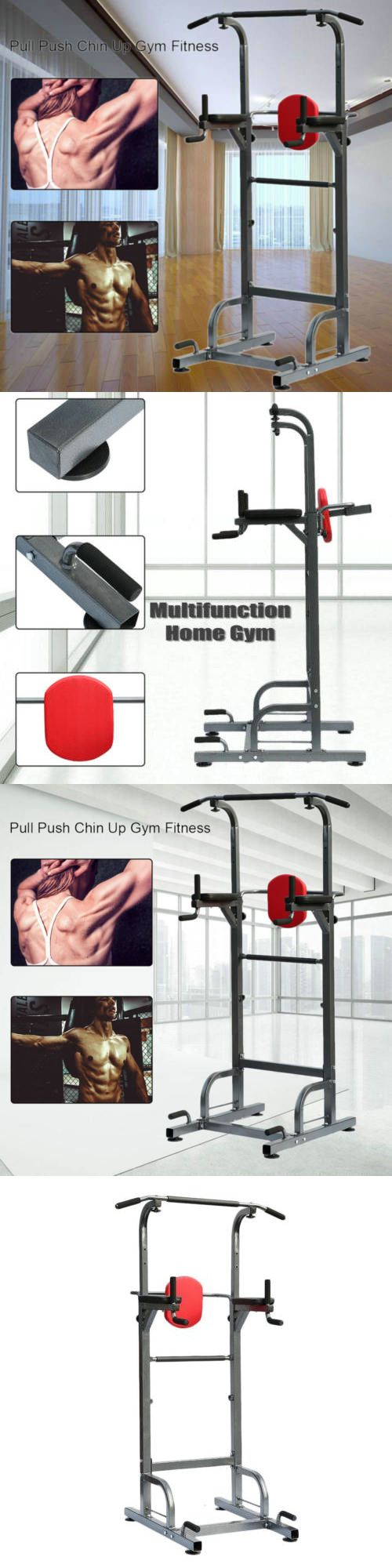 Push Up Stands 158925: Dip Station Power Tower Pull Push Bar Chin Up Home Gym Fitness Center Heavy Duty -> BUY IT NOW ONLY: $119.99 on eBay!