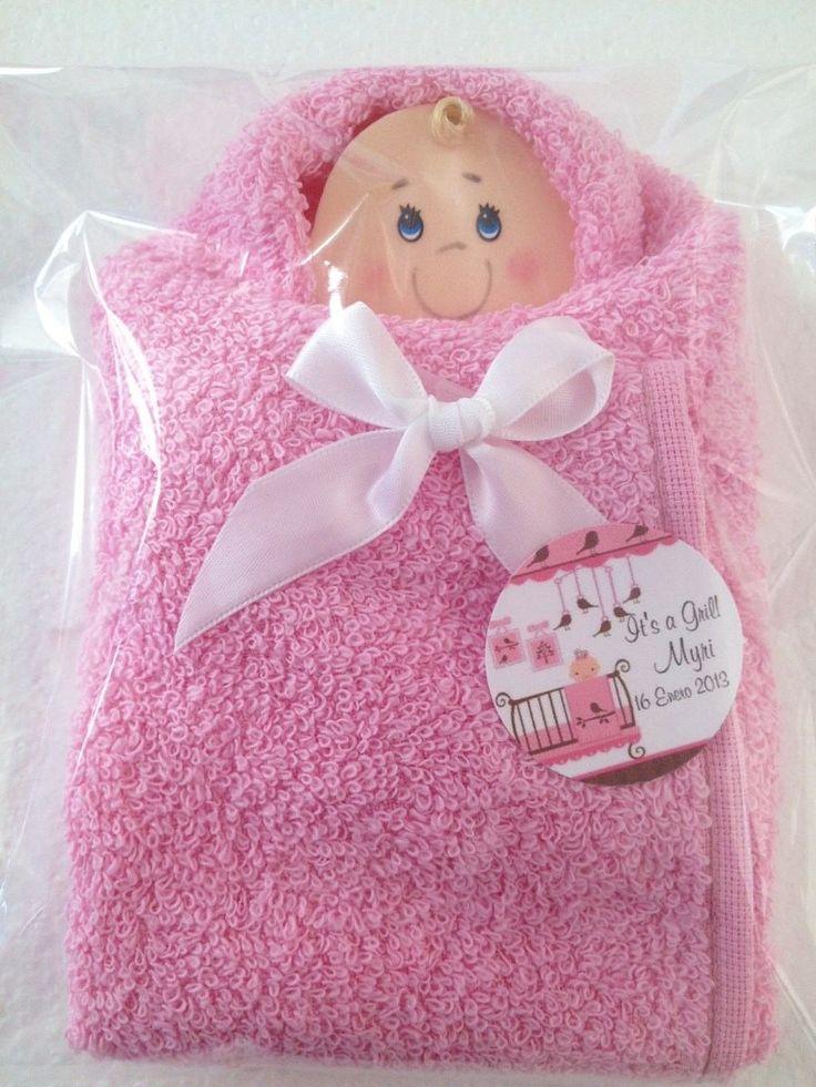 Recuerdos en toalla para baby shower - Imagui