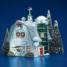 """Department 56: Products - """"Dairy Barn"""" - View Lighted Buildings"""