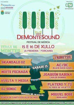 Festival DeMonteSound 2017 en Forcarei. Ocio en Galicia | Ocio en Pontevedra. Agenda actividades: cine, conciertos, espectaculos