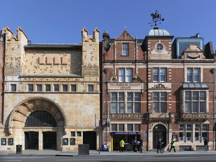 The ART NOUVEAU inspired facade of the Whitechapel Gallery by Charles Harrison Townsend