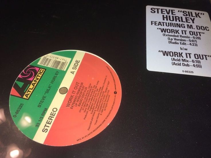 "Steve ""Silk"" Hurley Work It Out Atlantic Records 1989 12"" Chicago House Music #DiscoElectroFunkHouseTechno"