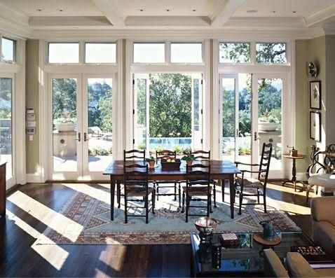 French Windows In Dining Room