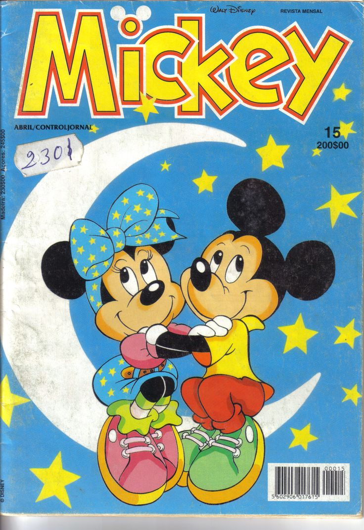 Portugal - Mickey (Portuguese) Scanned image of comic book (© Disney) cover