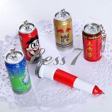 Novelty Stationery Beverages Pen Telescopic Ballpoint Kids Children Gift Favor