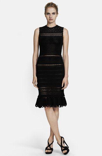 Alexander McQueen Sleeveless Crochet Dress