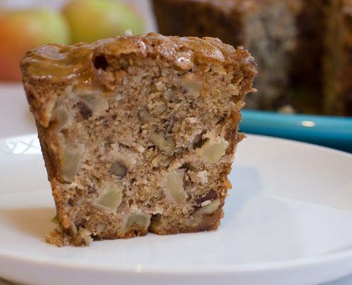 torta de manzana y nueces