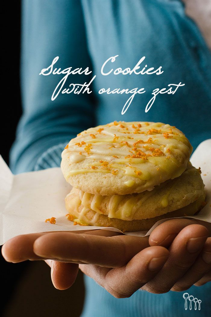 Gluten-Free Sugar Cookies with Orange Zest! They are easy to make and delicious.  Visit www.fourspoonsglutenfreerecipes.com