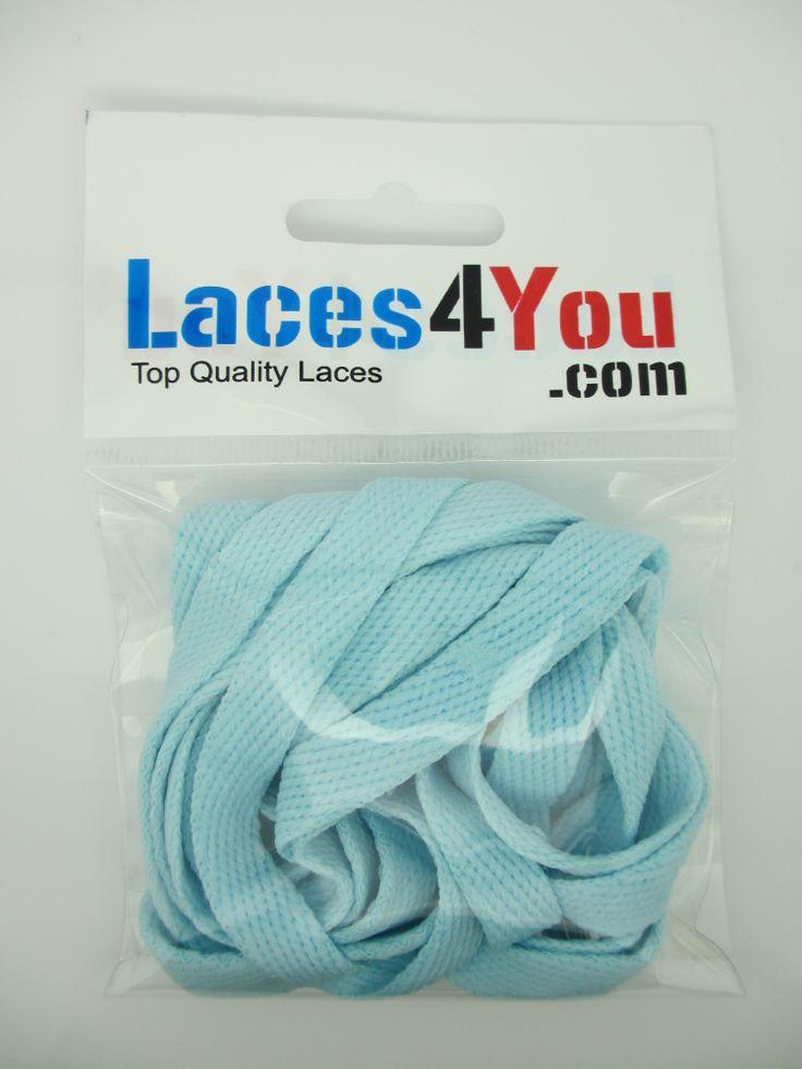 Flat Light Blue 10mm Laces.
