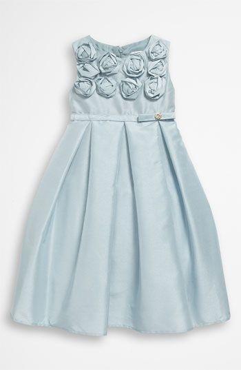 Dorissa Sleeveless Shantung Dress (Toddler) perfect flower girl or formal attire!