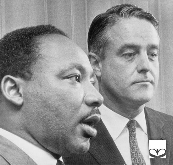 Sargent Shriver with Martin Luther King, Jr.