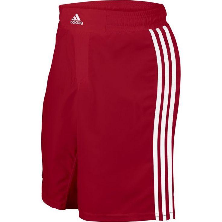 adidas Adult Wrestling Grappling Shorts, Size: Medium, Red