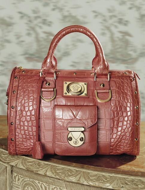 beautiful Versace handbag.
