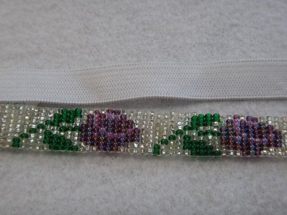 Native American Rose Beaded Headband by NdnHandmadeJewelry on Etsy