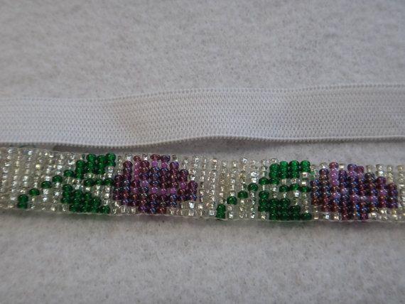 Native American Rose Beaded Headband by NdnHandmadeJewelry on Etsy