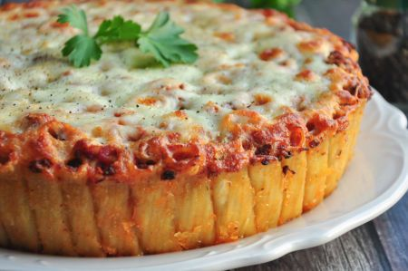 Rigatoni Pasta Pie (Martha Stewart)