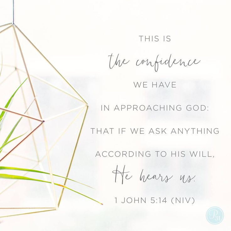 This is the confidence we have in approaching God: that if we ask anything according to His will, He hears us. And if we know that He hears us - whatever we ask - we know that we have what we asked of Him. | 1 John 5:14-15