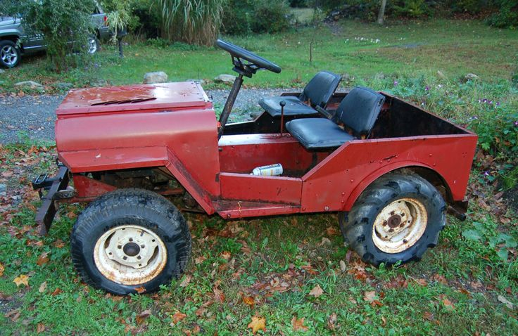 "Old School Horse Trailers | Roof Palomino ""mini jeep"" Lawn Mower White Plains, NY on eBay"