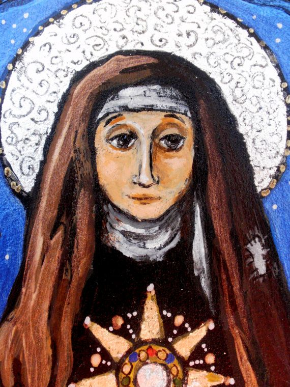 Today is the feast of Saint Clare of Assisi  Christian Religious gift  by Art4thesoul, $30.00