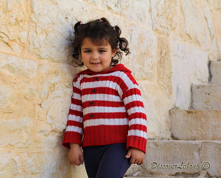 Little Lebanese adorable girl in Monastery Mar Youhana Maroun Kfarhay